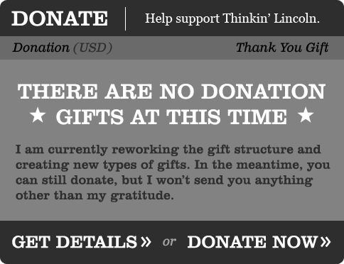 Donate to Thinkin' Lincoln